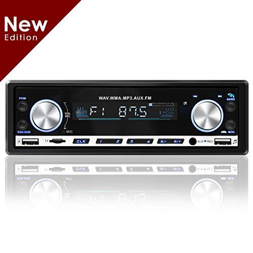 Favoto Car Stereo FM Car Radio Bluetooth 4.2 Car Kit Hands Free with AUX3.5mm EQ Scene Mode USB/SD Card Ports