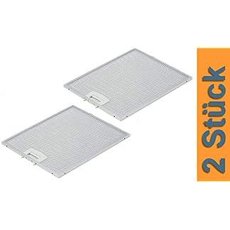 DREHFLEX® AK117-2 – 2 filtros de grasa metálicos para campana extractora Bosch Siemens Neff (250 x 322 mm) para piezas 353110 00353110