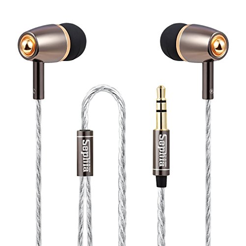 Sephia SP1020 Earphones Headphones Noise Isolating with Bass Driven Stereo Sound - Gold Test