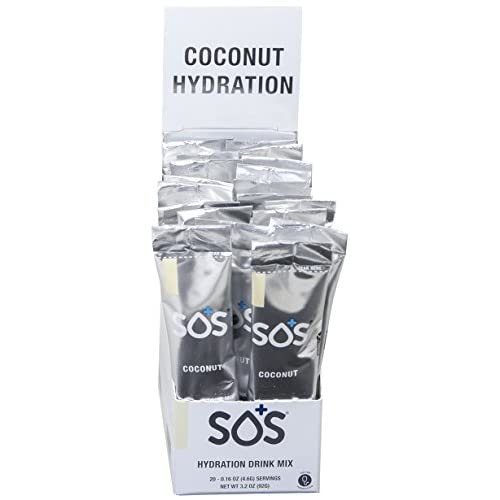 41f2IjYBALL. SS500  - SOS Rehydrate Coconut Electrolyte Powder, Easy Open Packets, Supplement Drink Mix 20 sachets