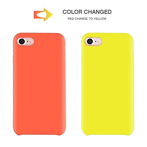 "For iPhone 7 Plus 5.5"" Soft TPU Case Magical Stylish Color Changing Heat-Sensing Case Fluorescent Thermal Heat Induction Matte Surface Back Cover for iPhone 7 plus - Modena change to Purple Red change to Yellow"