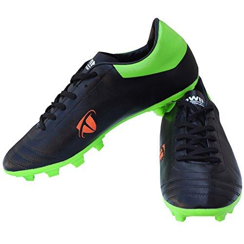 Gowin By Triumph ACE Black/Parrot Football Shoes Size-8