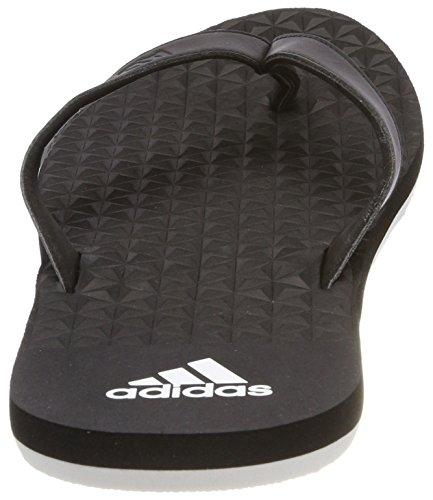 adidas Eezay Soft, Chaussures de Plage et Piscine Homme Noir (Core Black/core Black/ftwr White)
