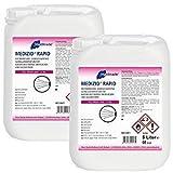 Meditrade 10 Liter Medizid Rapid - aldehydfreie Sprühdesinfektion für alle alkoholbeständigen Oberflächen - 2 x 5 Liter Kanister