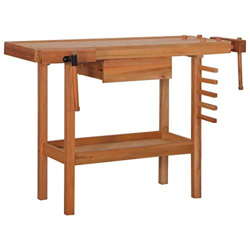 Tischlerwerkbank Werkbank Holz-Schraubstock mit Schubladenaufbewahrung für den professionellen persönlichen Gebrauch Tragkraft 136 kg 123 x 52 x 83 cm