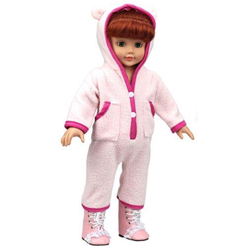 Transer Liebenswürdig, Baby Puppe Kleidung, Custom Design Schlafanzüge Outfit für 45,7cm American Girl Puppe