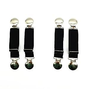 Boncas Verbesserte, robuste, verstellbare elastische Stiefelriemen, Hosenklemmen, um Ihre Hose sicher zu halten.