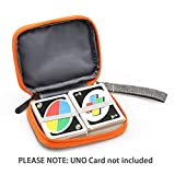 YSAGi Travel Carrying UNO Case Compatible Card Game, Fit up to 150 Cards, Soft Cloth Waterproof Anti-scratch Around Protection Compatible UNO Card on the Outdoor Gaming or Camping
