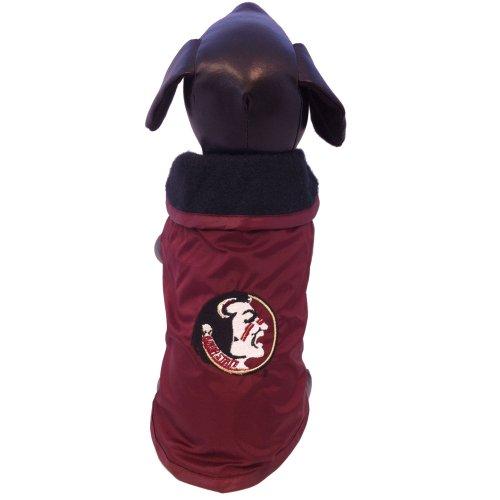 Erwachsene Oberbekleidung (NCAA Florida State Calendoles Allwetterfeste Schutz-Oberbekleidung für Hunde, Unisex-Erwachsene, Team Color, Medium)