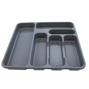 Ardisle Range couverts en plastique pour tiroir de cuisine, couteau, fourchette et cuillère - 6 compartiments