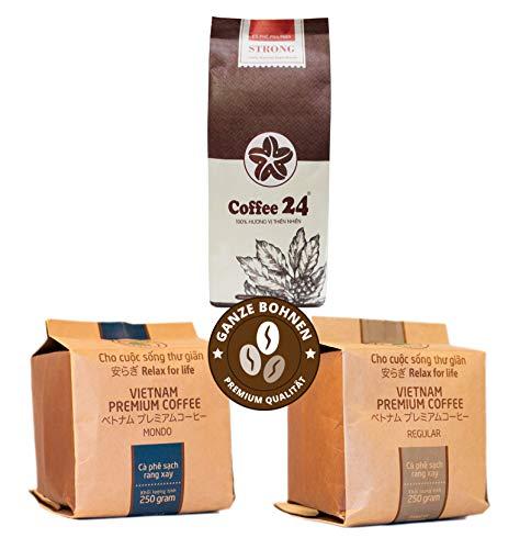 Sonderangebot - 3 x 250g vietnamesischer Kaffee - Drei wechselnde Sorten - Hochwertige Kaffeebohnen...