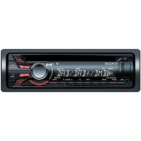Sony CDX-DAB500U - RadioCD para coche con USB frontal, negro