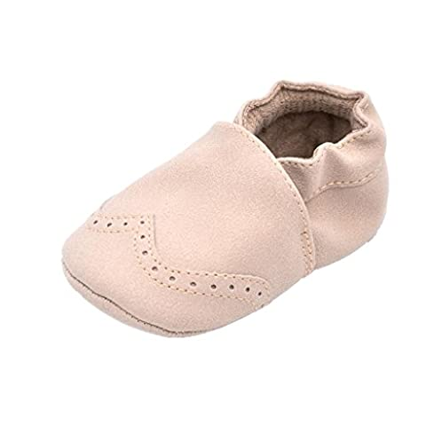 Saingace 1 Pair Baby Boy Girl Toddler Newborn Prewalker Soft Sole First Walking Shoes (Age:12~18 Month, Beige)
