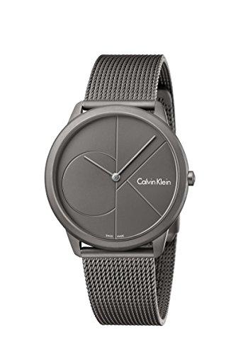 Calvin Klein Herren Analog Quarz Uhr mit Edelstahl Armband K3M517P4