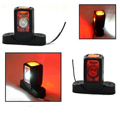 2x LED 24V LKW Seitenleuchten E-Prüfezeichen Begrenzungsleuchten Neu Anhänger Fahrgestell - Led-marker Anhänger
