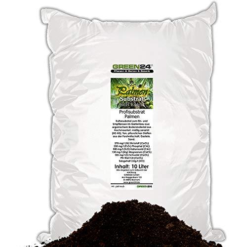 GREEN24 Palmenerde Palmensubstrat Premium Erde für Palmen - 10 Ltr. - PROFI LINIE Substrat