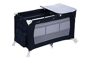 Safety 1st Full Dreams Lit Parapluie équipé 3 en 1 avec Table à Langer et Sac de Transport, Pratique et Léger - Navy Blue