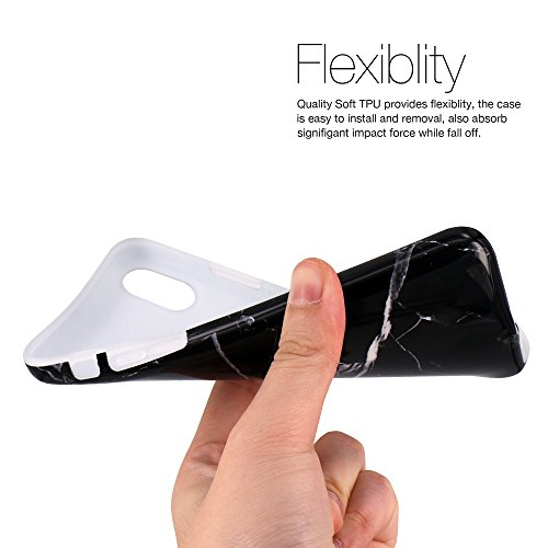 iPhone X Hülle, JIAXIUFEN Schwarz Gold Marmor Serie Flexible TPU Silikon Schutz Handy Hülle Handytasche HandyHülle Etui Schale Case Cover Tasche Schutzhülle für Apple iPhone X 5.8 Zoll (2017) Black White