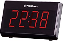 First Austria 002416 1 - Radio reloj despertador con pantalla LED XXL regulables de color negro