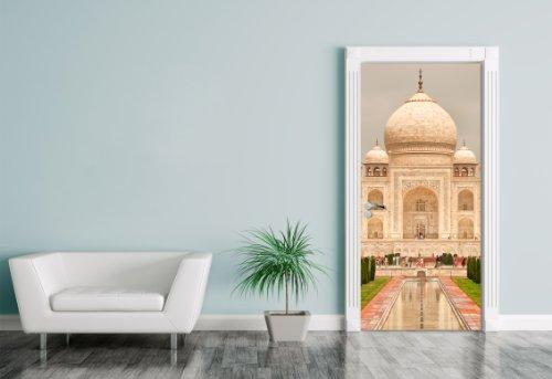 """Bilderdepot24 Foglio adesivo per porte """"Taj Mahal - India"""" 90x200cm - autoadesivo, direttamente dal produttore"""