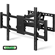 "SIMBR Soporte de Pared para TV de 30""-85"" LED / LCD / Plasma / Curvada Televisores Extensible Inclinable y Giratorio Brazo Double Carga Máx. 80 kg VESA Máx. 700x400 mm Negro"