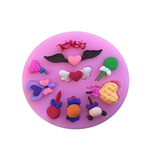 Da.Wa Lollipop Stil DIY handgemachte Seife Silikon Formen Cupcake Fondant Kuchen Dekorieren Werkzeuge Schokolade Formen (Schokoladenformen Lollipop)