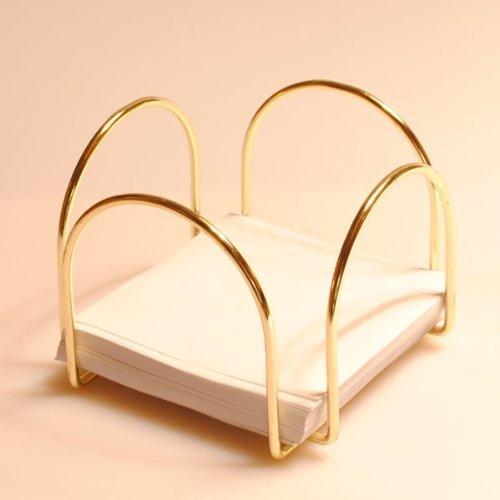Notizzettel-Box in goldener Farbe