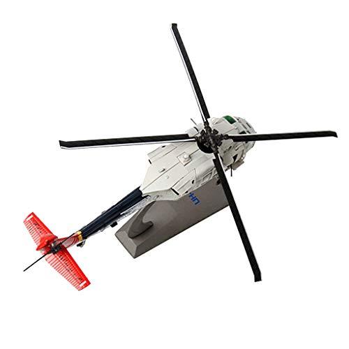 P Prettyia 1: 72 Modelo de Helicóptero Apache AH-64A Fuerza Aérea Modelo  Militar Aviones Decorativos para Hogar - Gris