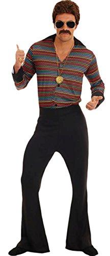 erdbeerloft - Herren Disco Fever 70er Jahre Komplett Kostüm , Mehrfarbig, Größe (Ball Disco Kostüme)