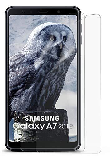 2X Samsung Galaxy A7 (2018) | Schutzfolie Matt Bildschirm Schutz [Anti-Reflex] Screen Protector Fingerprint Handy-Folie Matte Bildschirmschutz-Folie für Samsung Galaxy A7 2018 Bildschirmfolie