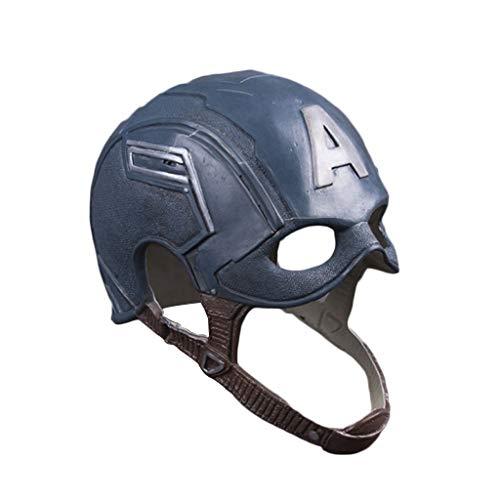 Halloween Putzt Sich Kostüm - K-Flame Superheld putzt Sich Maske halbes Gesicht Kostüm Helm Classic Marvel Captain America Kostüm-Outfit für Erwachsene Halloween Cosplay Party