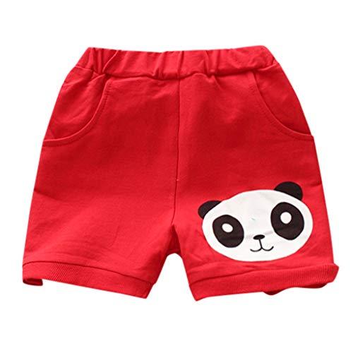 Julhold Sommer Jungen Mädchen PP Cartoon Panda Lose Beiläufige Jogginghose Shorts Elastische Taille Kleidung 1-5 Jahre (Panda Jugend Kostüm)