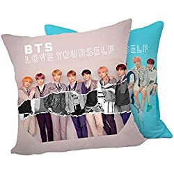 AILIENT BTS Cute Dibujos Animados de Peluche de Felpa Juguete muñeca Almohada Cooky shooky Tata Bangtan niños Manta Almohada sofá cojín Korean Boy Band Rectangle Pillowcase