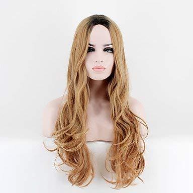 Erdbeere Blonde Perücke Kostüm - Frauen synthetische Perücke lange sehr lange