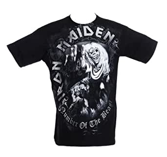 Collector's Mine Iron Maiden - Number Of The Beast (Grey)  5885TSBP Herren T-Shirt, Gr. 52 (L), Schwarz