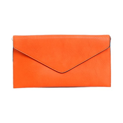 Damen Tasche Mädchen Clutch Bag Handtasche Party Hochzeit Abendtasche Tasche Handschlaufe Orange