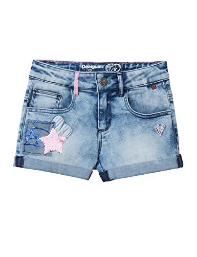 Desigual Mädchen Girl Trousers (Denim_MAESTRE) Shorts, Blau (Jeans 5006), 140 (Herstellergröße: 9/10)