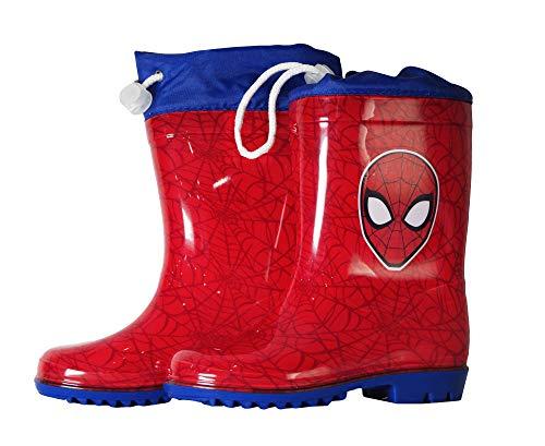 takestop Stivali Stivaletti Stivaletto in Silicone da Pioggia Spiderman  Spider Man Uomo Ragno Marvel Rosso Blu eaa7a804f71
