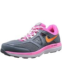 Nike W Dual Fusion Lite 2 MSL - Zapatillas de running para mujer, color gris / rosa / blanco / naranja