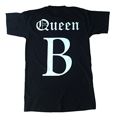 New Unisex-Queen B T-Shirt Top Beyonce inspiriert Mrs Carter Run Tour Konzert Yonce Lupenrein Jayz, Schwarz - Schwarz, XL / 46/52 (Top Konzert-tour-t-shirt)