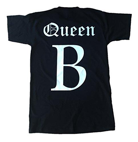New Unisex-Queen B T-Shirt Top Beyonce inspiriert Mrs Carter Run Tour Konzert Yonce Lupenrein Jayz, Schwarz - Schwarz, XL / 46/52 (Konzert-tour-t-shirt Top)