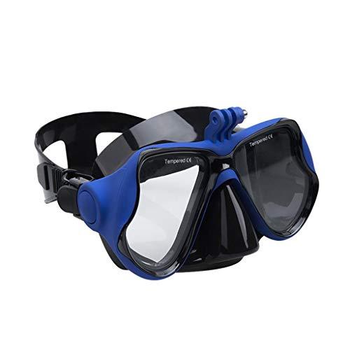 Fcostume Neue Professionelle Unterwasserkamera-Tauchmaske Scuba Schnorchel Schwimmbrille für DJI Osmo Action für GoPro Xiaomi für SJCAM Sports Camera (blau)