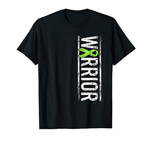 Lymphom-Bewusstsein - Kalkgrün seitwärts Krieger-Band T-Shirt