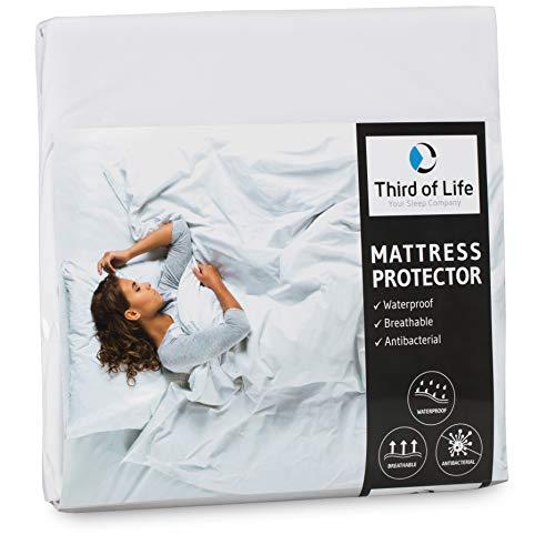 Matratzenschoner 180x200 wasserdicht | Atmungsaktive Matratzen-Auflage | Anti-Milben Bezug unter Spann-Bettlaken | Wasserundurchlässiger Matratzenschutz | Hygienischer Matratzen-Topper 180 x 200 cm