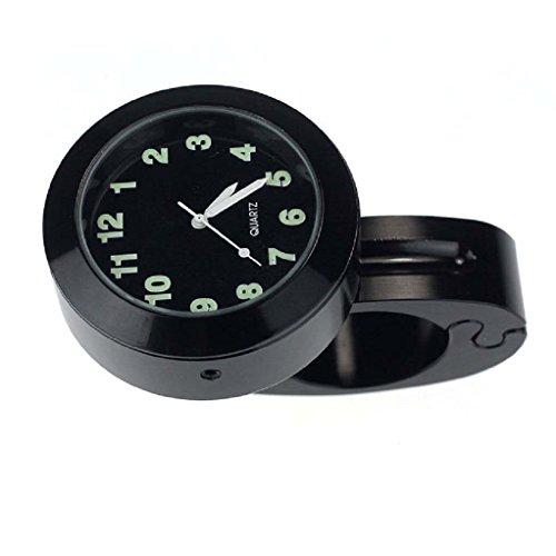 Motorrad Lenker - SODIAL(R) Motorrad Zubehoer Lenker wasserdichte Uhr (schwarz)