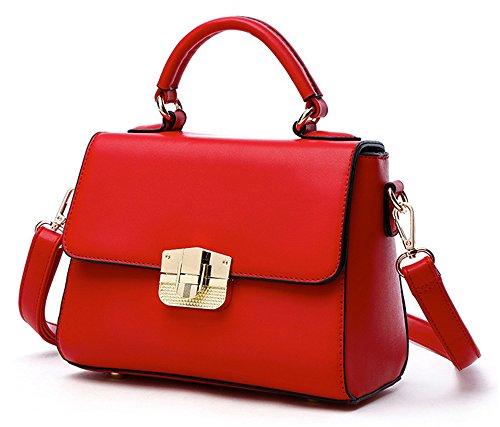 Xinmaoyuan borse Donna Summer Vacchetta Borsette Spiraea Confezione tracolla messenger bag,grigio Rosso