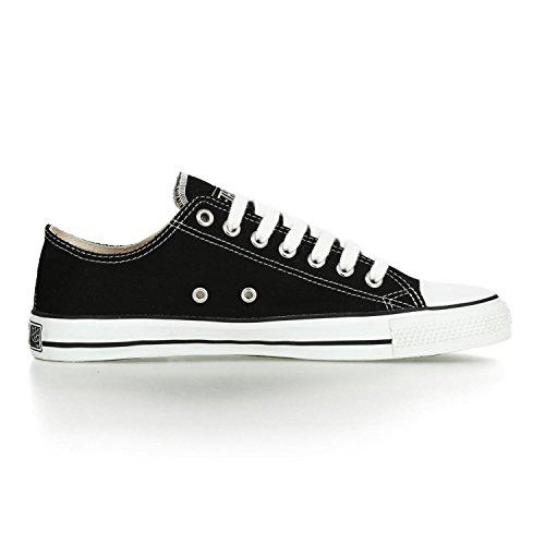 Ethletic Sneaker vegan LoCut – Farbe jet black / white aus Bio-Baumwolle – low Sneaker - 5