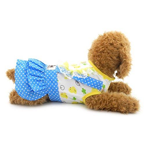 ssin Pet Kleider Herbst Frühling Sommer Hund Kleid Baumwolle Weste Soft Vest Rock Kleidung für kleine Puppy Hund Mädchen ()