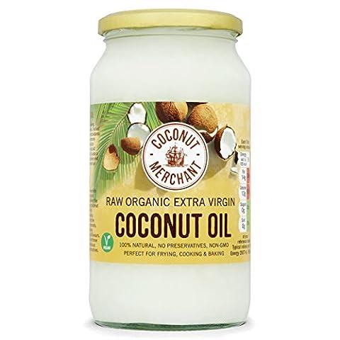 Coconut Merchant - Huile de noix de coco biologique extra vierge et non raffinée - 1 L