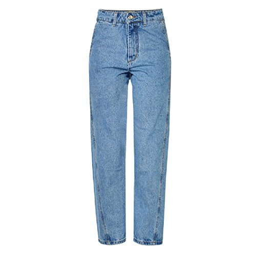 Donne Pantaloni Gamba Larga Stretch Jeans Blue